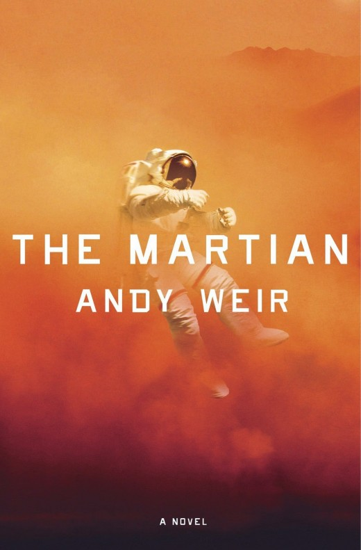 The book cover for The Martian