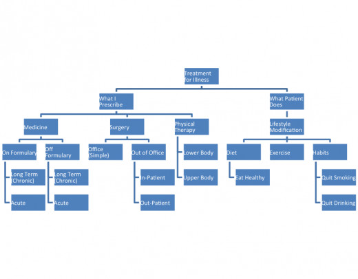 """This is the diagram developed by David in response to the term """"Treatment for Illness""""."""