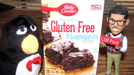 Wheezy and his favorite brownie mix.  And oh--that's his insurance agent.
