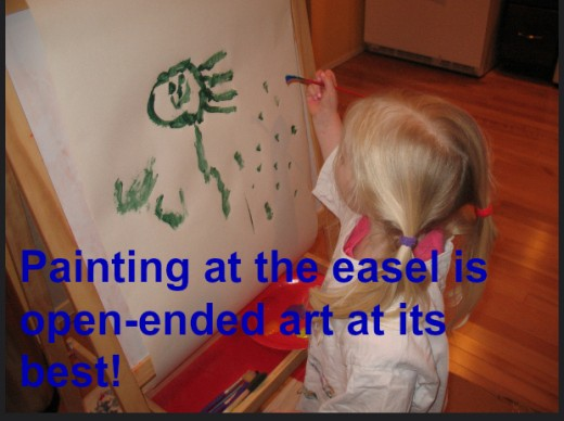 When a child paints at the easel, she's a true artist: making choices about color and design, working independently, and experiencing the therapeutic benefits of creating.