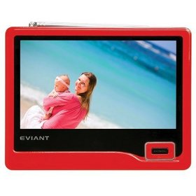 Eviant T7 7-Inch Portable LCD TV, Red