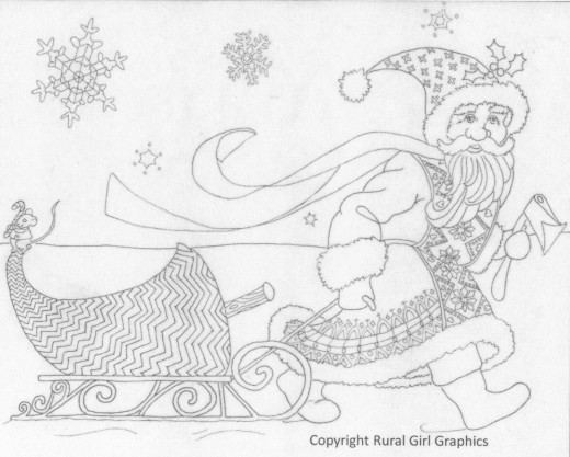 This is an example of an engaging holiday coloring sheet for adults