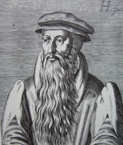 John Knox; woodcut, scanned from:  F Maclean, A Concise History of Scotland, London 1970
