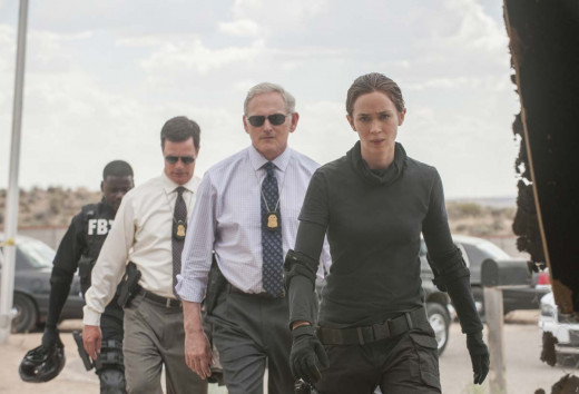 "Victor Garber and Emily Blunt in ""Sicario"""