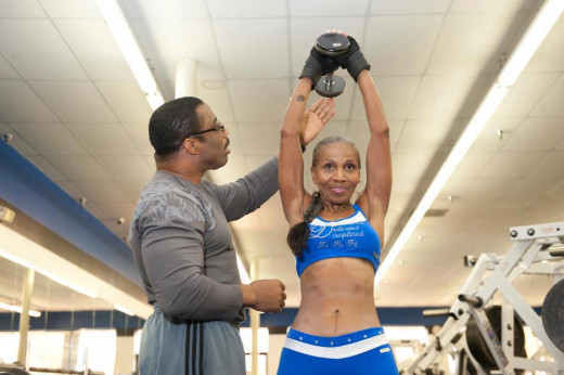 Ernestine Shepherd, bodybuilder over 70 years old.
