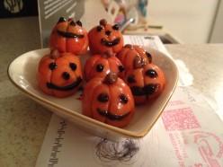 Halloween Marzipan Pumpkins