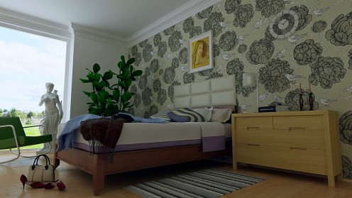 Low beds are a popular choice for more modern looking bedrooms.