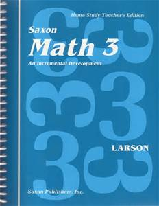 A Saxon Math teacher's guide contains a script of what to say to your child during each lesson