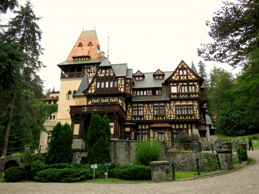 The smaller, but no less wonderful, Pelişor Castle, Sinaia, Transylvania.