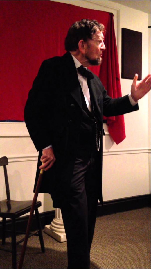 James Getty as Abraham Lincoln in Gettysburg.