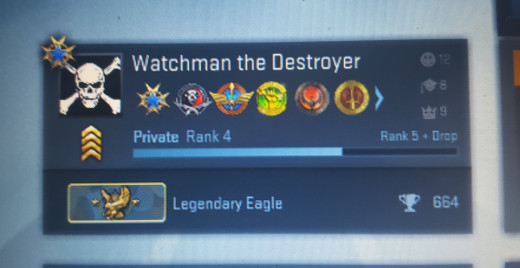 From silver to legendary eagle was a steep learning curve....took me 664 wins to figure it out.