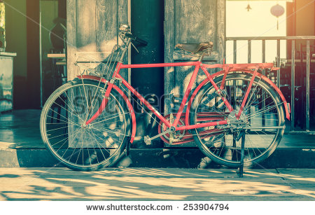 Old Bicycle Near House