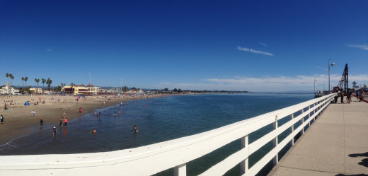 On the Santa Cruz Wharf