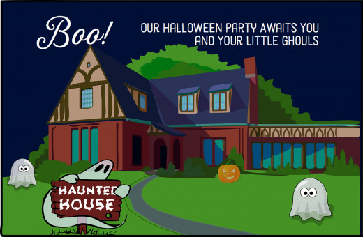 An invitation you can use for a children's Halloween party.