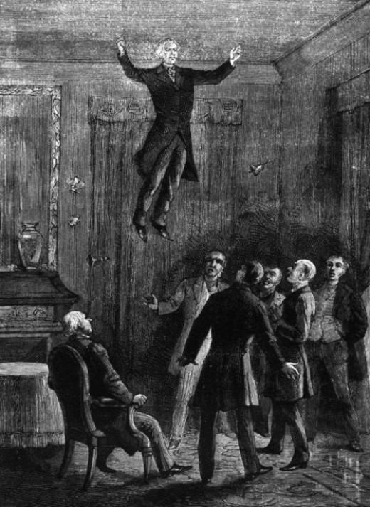 Daniel Dunglas Home levitates in 1868