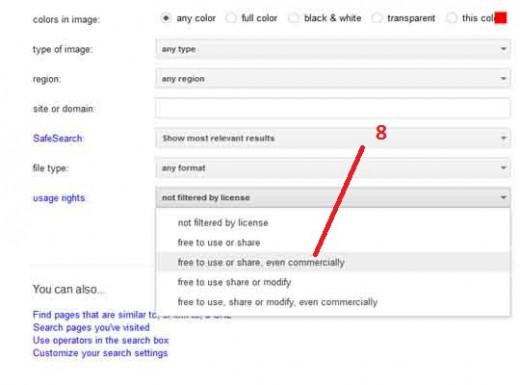 Find Free license image. Step:8