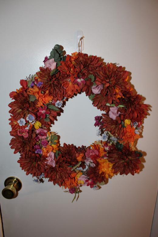 My Mom's homemade wreath.