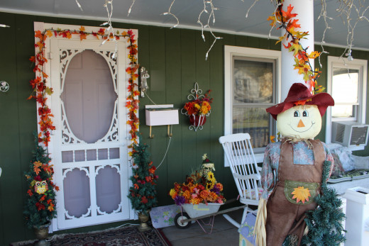 Our front porch. I took that picture a week ago, this year, 2015.