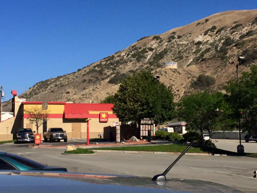 The humble town of Gorman, complete with natural resources like fast food and booze