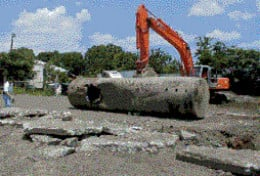 A Large Underground Storage Tank (UST) is Removed From a Brownfield Property