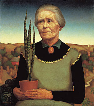 Woman with Cactus, the artist's mother