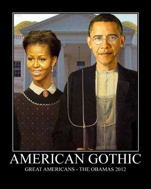 I think every president has had his face superimposed into American Gothic