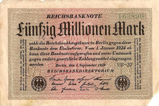 A German Million Mark Note