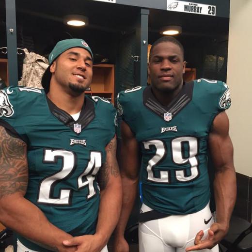 Philadelphia Eagles RBs Ryan Matthews (L) and DeMarco Murray (R)