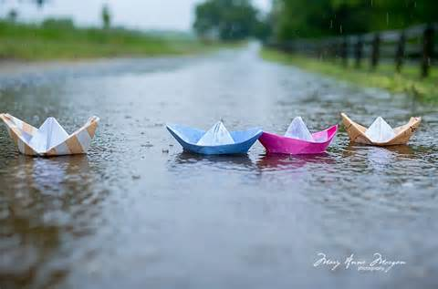 our paper boats...
