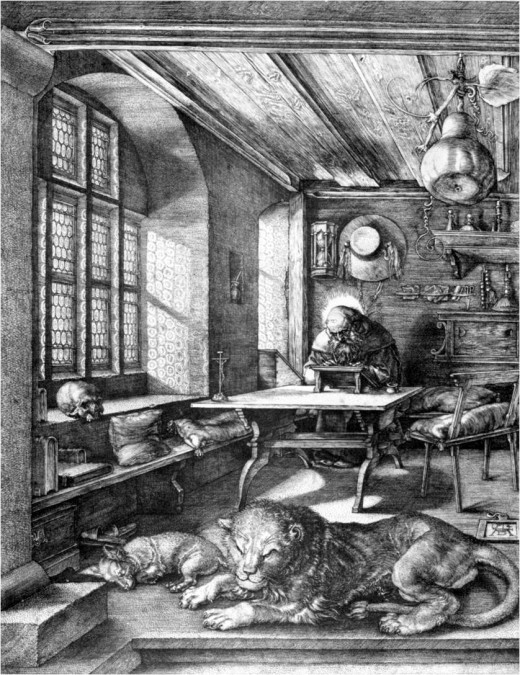 Saint Jerome in His Study: Albrecht Durer