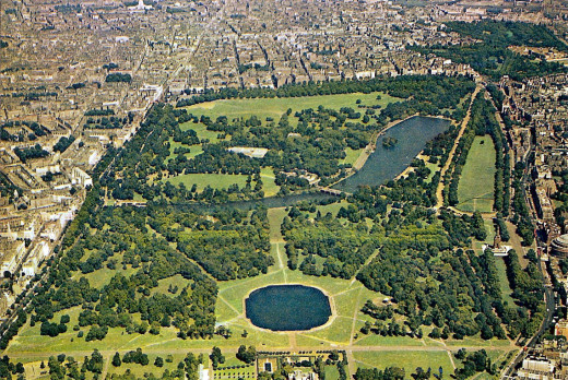 Aerial View of London's Largest Park