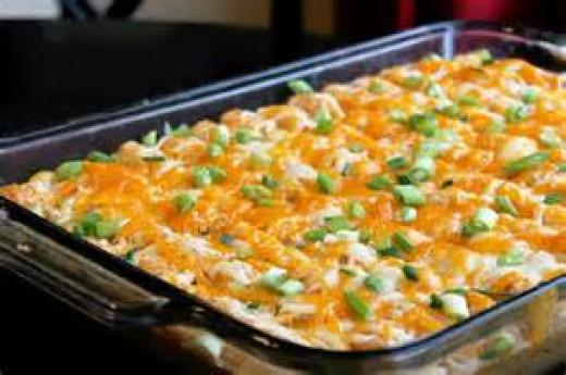 Cheesy potato puff casserole