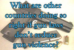 If easy access to guns doesn't impact US gun violence, what are other countries doing so right?