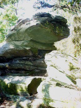 This rock is near the top and provides some nice cool shade. Doesn't it look like a monster?