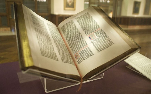 Gutenberg Bible - the first printed version of 'The Good Book'