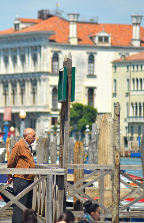 Waiting for a vaporetto, Venice (c) A. Harrison