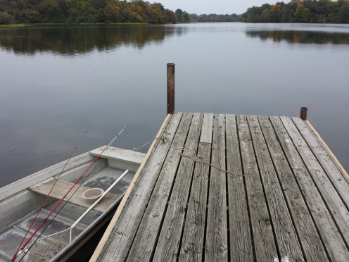 View from the dock at Lake Kincaid in Illinois. Photo taken by the author.
