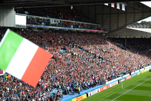 33120 people attended the game between Italy and Canada in Leeds, including me.
