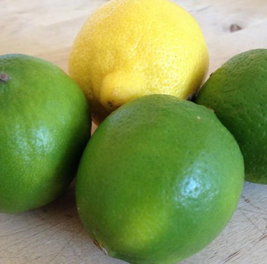 Three limes and a lemon