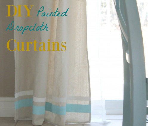 Drop cloth curtains off a natural style that is sturdy and inexpensive