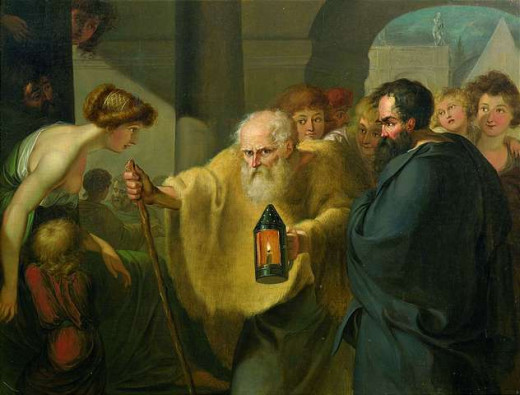 Diogenes' search for an honest man remains fruitless here (Credit: Wikipedia)
