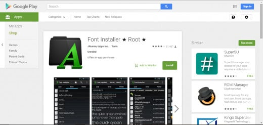 Font installer can be installed form the Google Play Store. You can download it via your PC or access the Play Store from your android device. Make sure you check the compatibility between the app and your device.