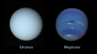 Neptune and Uranus