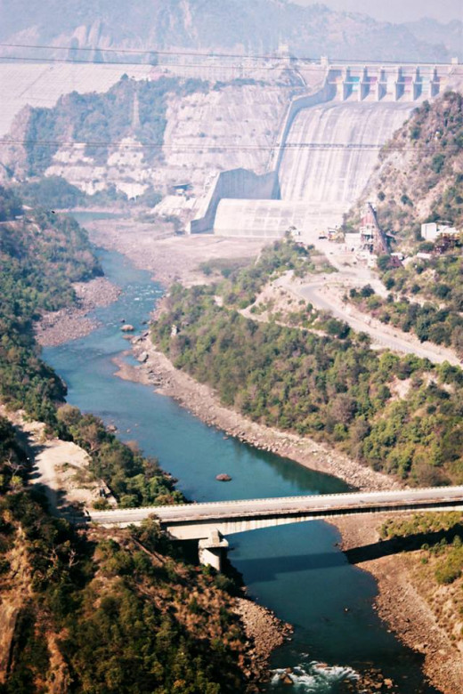 Ranjit Sagar Dam (Photographed during my trip to India last year)