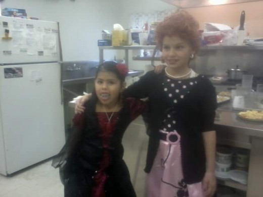 Here is Shelly and Makayla., and this is going  back  in  time.