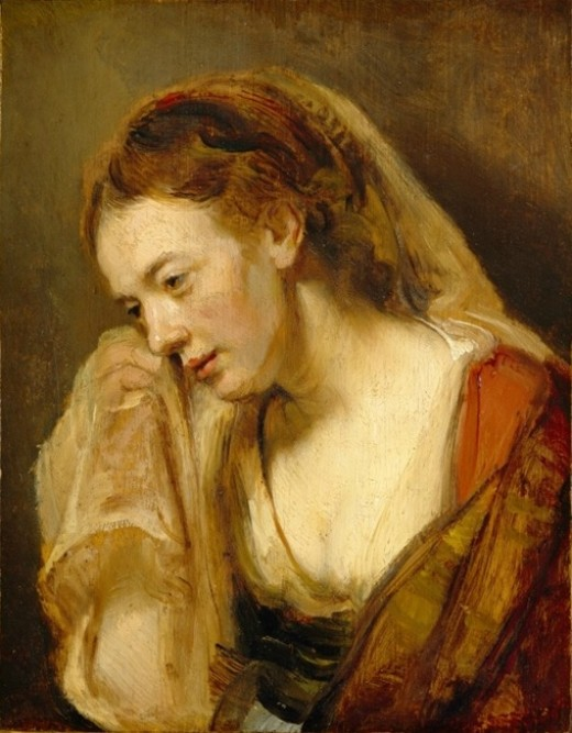 A Weeping Woman by Rembrandt.