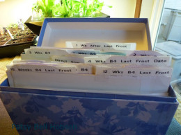 Recycle an old file box, lunch box, whatever you have. Be creative.