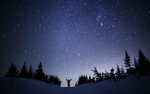 A Beautiful Winters Night Sky