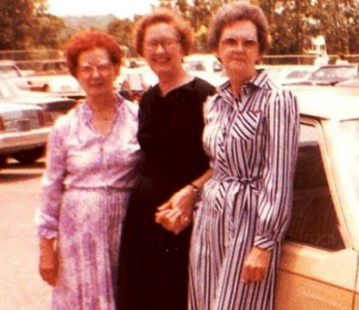 Helen, Louise and Cathe in 1983
