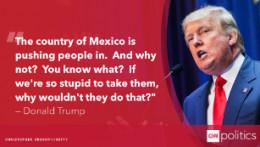 Statement of Donald Trump Against Latino Migrants